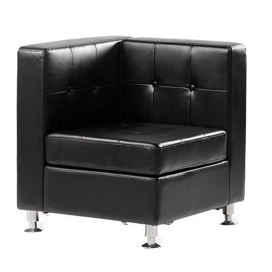 Boca Corner - Black Leather
